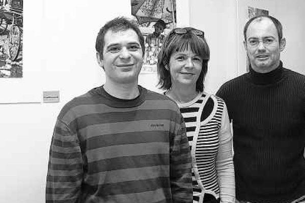 Arbeiten an Bildungsprojekten, die nachwirken sollen: Burak Selz, Cristel Henner und Ben Scheffler (v.l.). Foto: Ralf Roeger