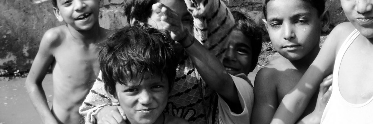 Kinder in Delhi